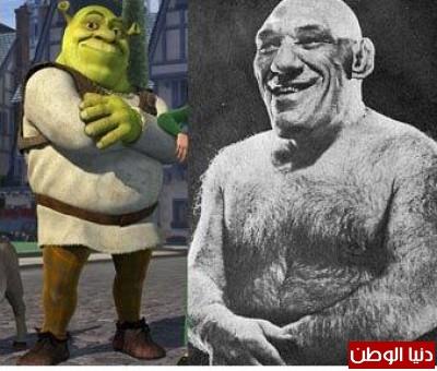 بالصور.. غول الكرتون shrek إنسان حقيقي توفي منذ 50 عاماً