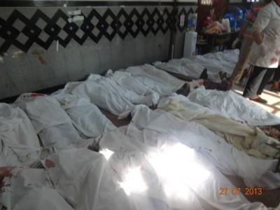 +18 شاهد صور وفيديوهات قتلى وجرحى اعتصام رابعة العدوية .. مئات القتلى والجرحى