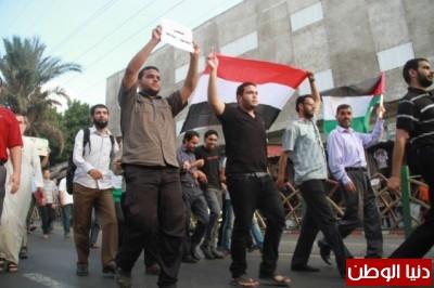 """غزة : وقفة احتجاجية ضد """"مجازر مصر"""" .. صور"""