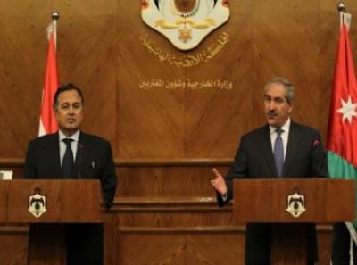 وزير الخارجية الأردني ناصر جودة بمؤتمر مع نظيره المصري اجتماع قادة الجيوش في الأردن ليس رد فعل على الكيماوي