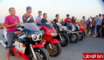 استعراضات لعشاق الدراجات النارية بغزة 9998405366.jpg