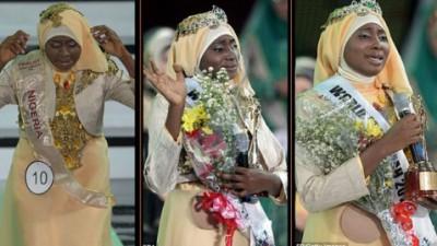 """بالصور والفيديو..عائشة اجيبولا """"ملكة جمال المسلمات"""""""