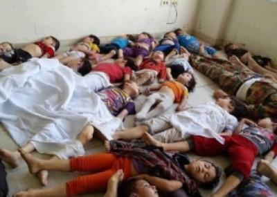 صور وفيديو : هل كانت كذبة لضرب سوريا؟ .. أطفال مجزرة الغوطة كانوا مخدرين وما زالوا على قيد الحياة