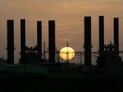 سلطة الطاقة تحذر من توقف محطة كهرباء غزة غداً