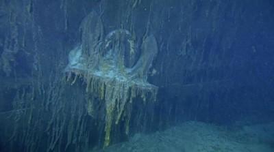 صورة نادرة لحطام سفينة التايتنك
