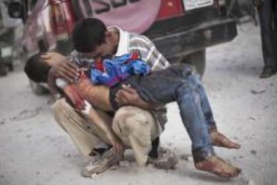 استغاثة الفلسطينين فى مخيم اليرموك من شبح الموت والجوع