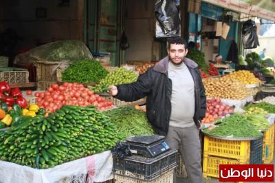 سوق الزاوية وسط قطاع غزة صباح اليوم