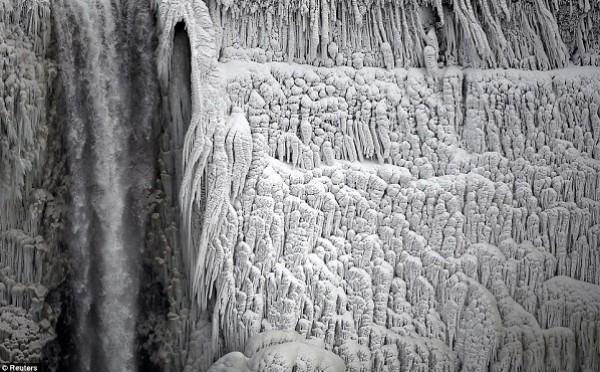 تجمد شلالات نياغرا في كندا