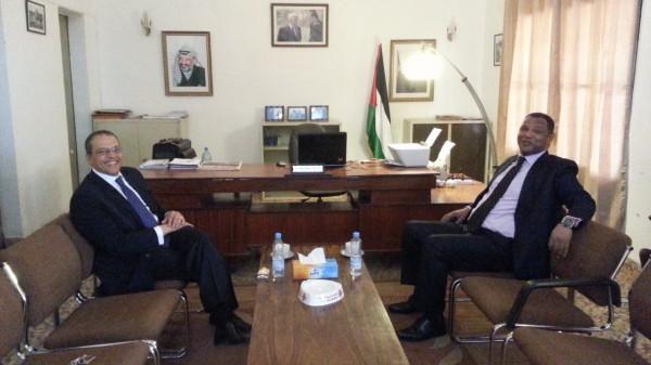 السفير عويضة يستقبل سفير المملكة المفربية لدى جمهورية مالي