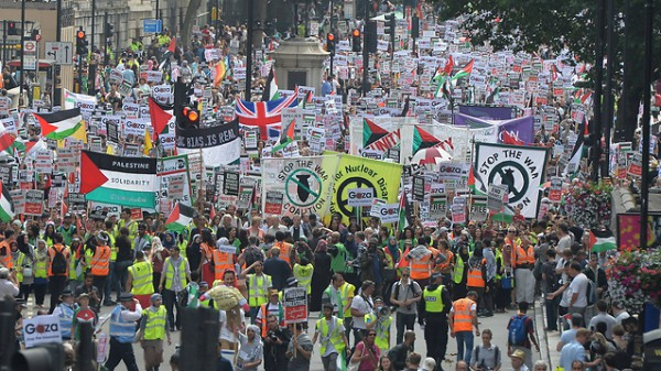 Photos: Pro-Palestinian protesters rally across EU
