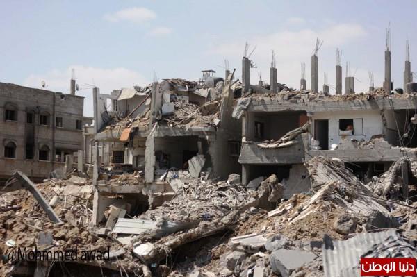 بالصور: عدسة دنيا الوطن ترصد الدمار وسط حي الشجاعية شرق مدينة غزة