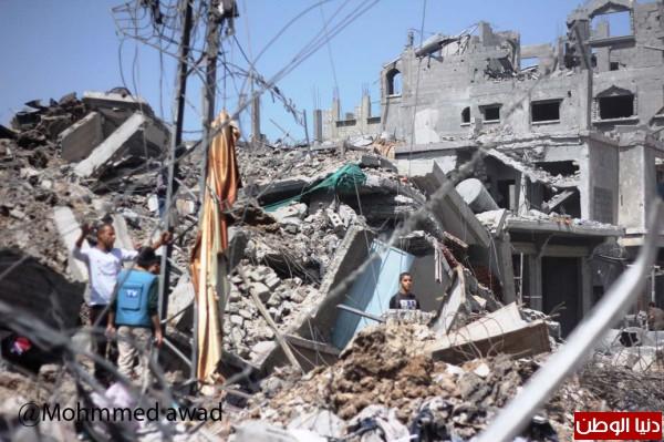 انتشال 132 من الشهداء من تحت البيوت المدمرة يرفع #عداد_العدوان الى 1032 شهيد وأكثر من 5860 جريح
