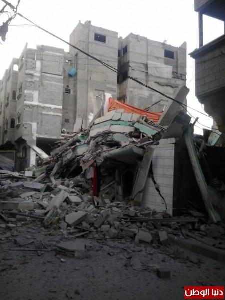 صور قصف منزل القيادي في حماس اسماعيل هنية