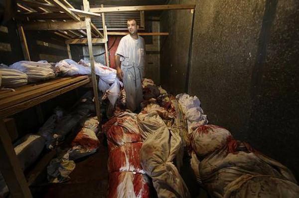 صور تبين حجم المجزرة التي ارتكبتها اسرائيل في رفح