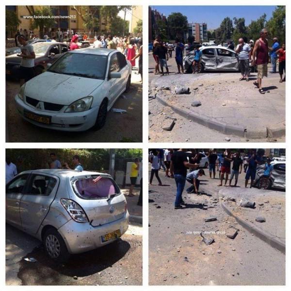 صورة: اصابة اسرائيلي وأضرار كبيرة في قصف بئر السبع.. الصواريخ لم تتوقف منذ الصباح..60 صاروخ حتى الان