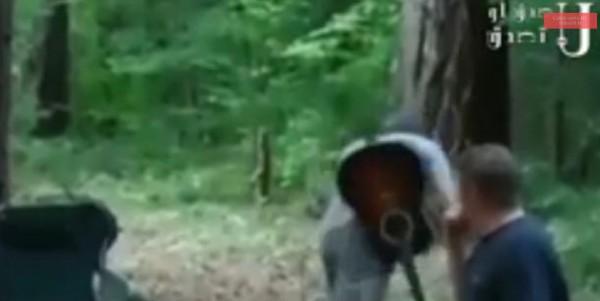 خفاش مسعور يهجم على رقبة عازف جيتار محاولا عضه