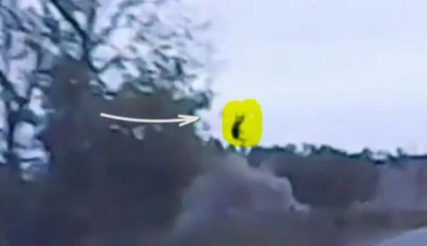 رجل يطير بعد تعرضه لحادث سير