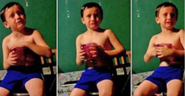 """فيديو.. طفل يبكى مطالبا بـ """"الزواج"""""""