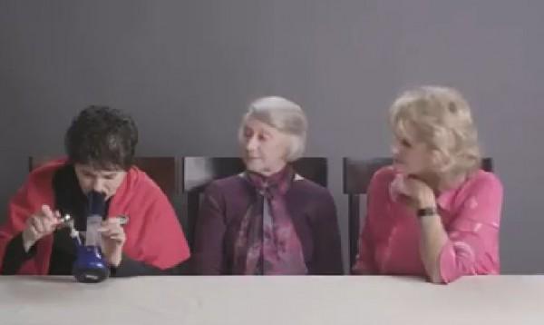 بالفيديو: ماذا حصل للعجائز الثلاث بعد تدخين الماريجوانا لأول مرة ؟