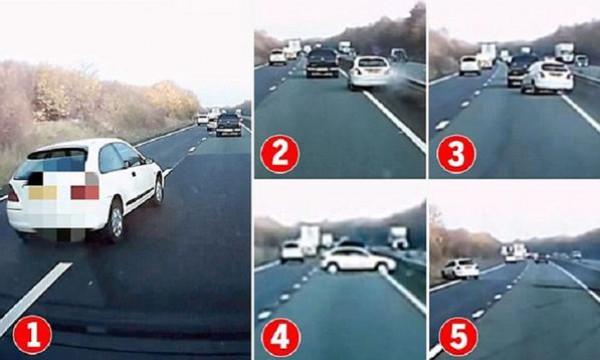 بالفيديو .. سائق مخمور يرتكب أغرب تصادم ثم يُكمل السير بسرعة أكبر