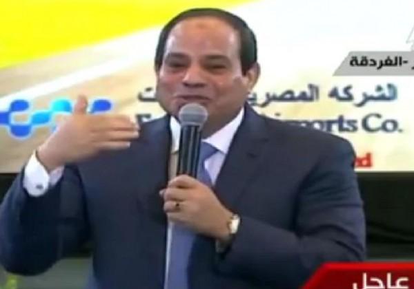 """الرئيس السيسى :""""محدش يقدر يخش بينى وبين المصريين''"""