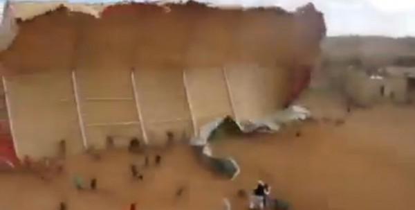شاهد ماذا فعلت طائرة مروحية بحفل تخريج كلية الطيران الليبية