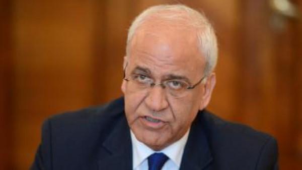 عريقات: مشروع القرار الفلسطيني سيطرح على مجلس الأمن اليوم أو يوم الاثنين القادم