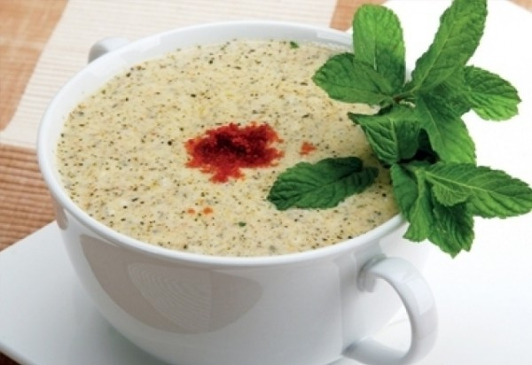 حساء اللبن بالأرز
