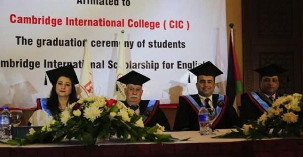 ثلاثة إعلاميين من غزة يحصلون على درجة الماجستير الفخرية من كلية كامبردج الدولية