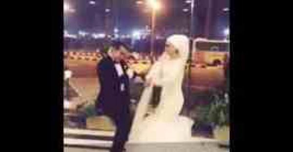 """عروسان يشعلان مواقع التواصل الاجتماعي بأغنية على """"dubsmash"""""""