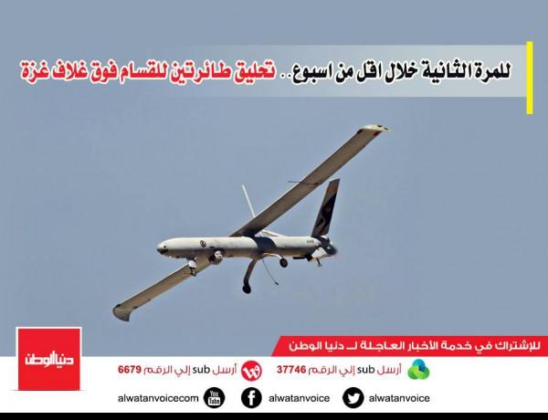 للمرة الثانية خلال اقل من اسبوع.. تحليق طائرتين للقسام فوق غلاف غزة