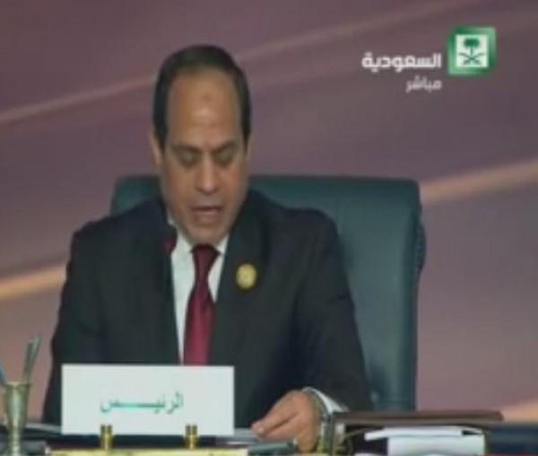 كلمة السيسي في إفتتاح الدورة السادسة والعشرين للقمة العربية