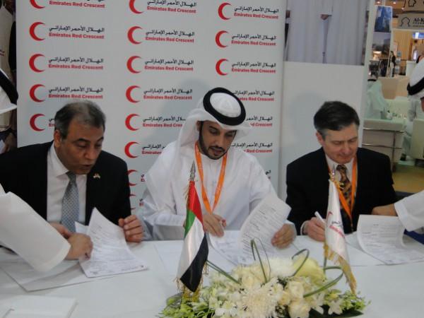 """هيئة الهلال الأحمر الإماراتي توقع إتفاقية مع الصحة الفلسطينية لتطعيم الأطفال ضد فيروس """"الروتا"""""""