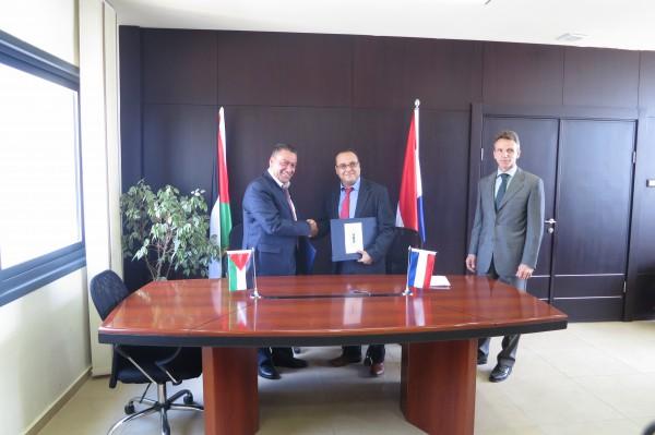 اطلاق مشروع تطوير ضريبة الاملاك في فلسطين بالتعاون اتحاد البلديات الهولندية