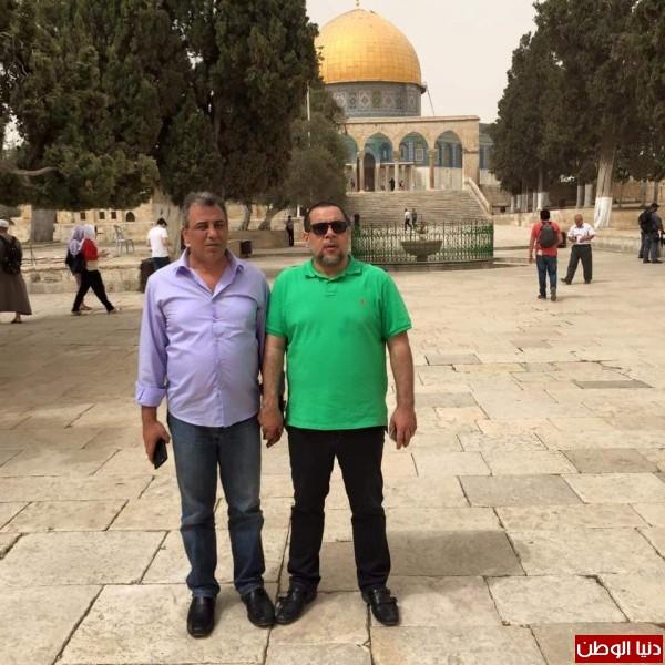 وفد إتحاد الكرة الإماراتي يزور المسجد الأقصى المبارك