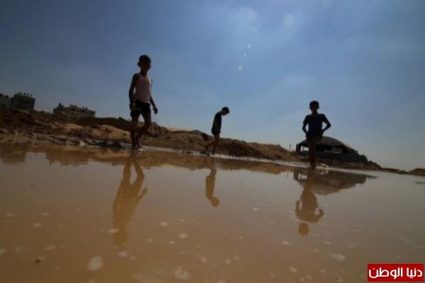 ننفرد:أول صور حصرية لمنطقة الأنفاق بعد قيام الجيش المصري بإغراقها بالمياه..الحدود تحولت إلى سيول