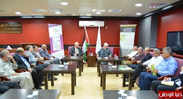 الشيخ عكرمة صبري وأعضاء مجلس إدارة جمعية المحبة في ضيافة ملتقى رجال الاعمال