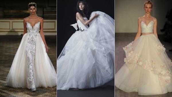 ff0bf843e7f93 أجمل فساتين زفاف أسبوع موضة العرائس للموسم القادم 2016