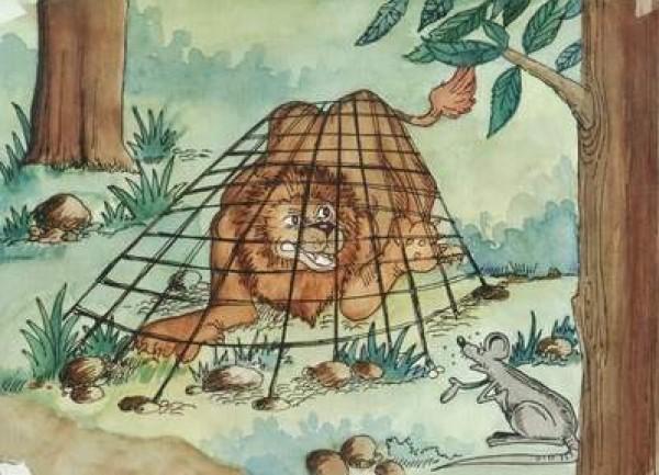 قصة الاسد ملك الغابة المغرور والفأر الحكيم دنيا الوطن