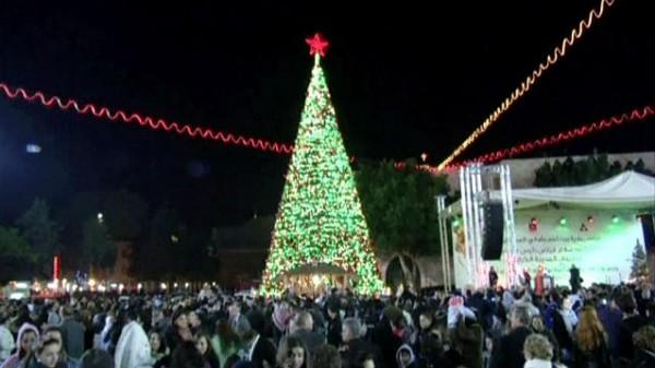 كلمة رئيسة بلدية بيت لحم ليلة إضاءة شجرة الميلاد