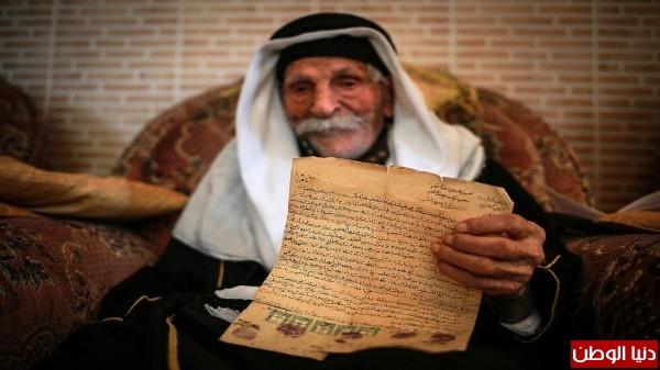 وفاة أكبر معمر في فلسطين الحاج رجب التوم ... عمره 127 عام وله 300 حفيد وعاصر خمس حكومات على فلسطين