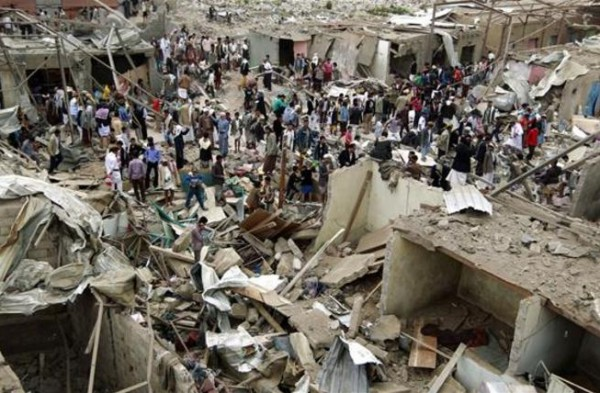 Yemen: Residential areas in Sana'a bombed by Saudi jets