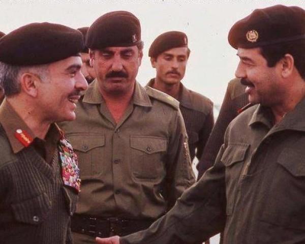 كيف حضر صدام حسين جنازة ملك الاردن الملك حسين بن طلال