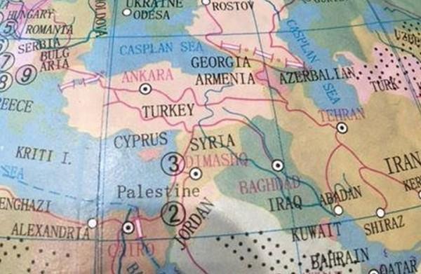 فلسطين بدل اسرائيل على خريطة استرالية للعالم