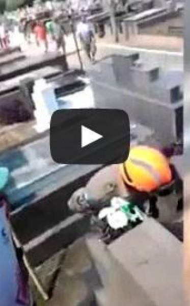 لحظة العثور على رجل دُفن حياً في البرازيل