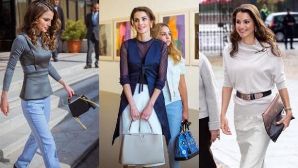 بالصور ... أجمل ١٠ حقائب للملكة رانيا ... لا تفوتك