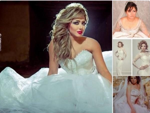 بالصور خمس فنانات ارتدين الفستان الأبيض أمام الكاميرات فقط