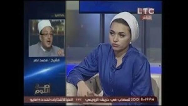بالفيديو مشاجرة على الهواء بين الشيخ ميزو وملكات جمال المحجبات