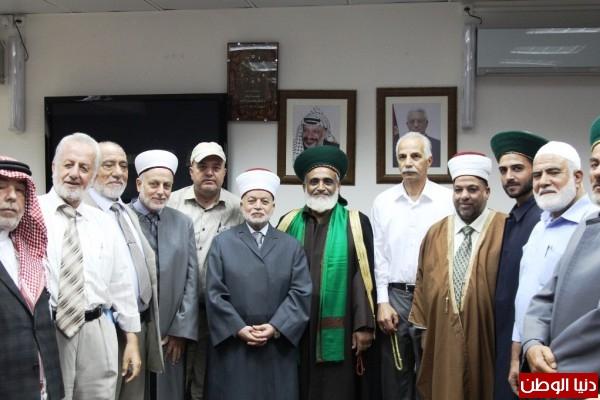 تحت رعاية المفتي العام ووزير الاوقاف الفلسطيني المجلس الصوفي الاعلى يعقد مجلسه الموسع الاول