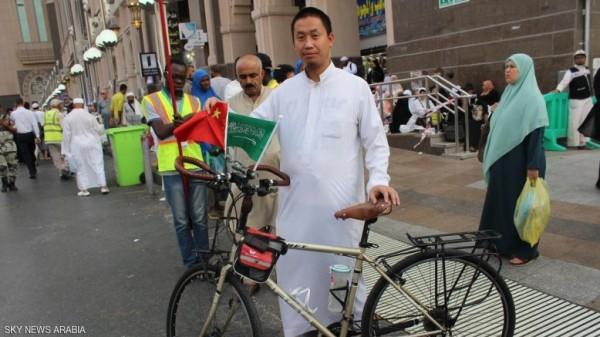 استغرقت رحلته 4 اشهر..وصل من الصين إلى مكة على دراجته للحج